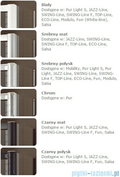 SanSwiss Melia MET1 ścianka prawa 90x200cm krople MET1PD0901044