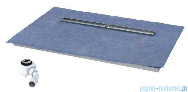 Schedpol brodzik posadzkowy podpłytkowy z odpływem Circle 140x70x5cm 10.006/OLDB/CE