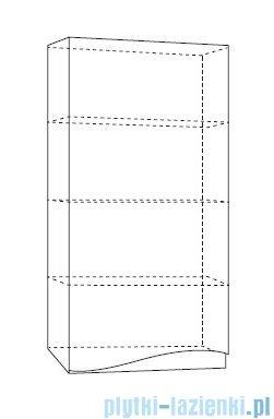 Antado Wave szafka wisząca lewa 40x20x80cm biały połysk VA-119L-WS