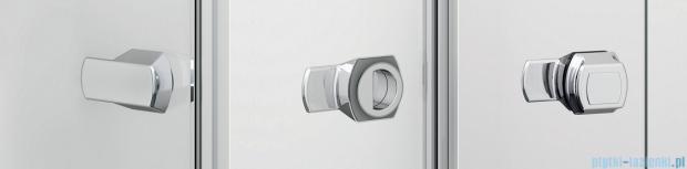Sanswiss Melia ME13 Drzwi ze ścianką w linii z uchwytami lewe do 160cm pas satynowy ME13WGSM21051