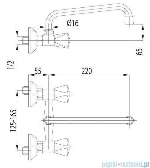 KFA STANDARD Bateria umywalkowa ścienna 300-550-00