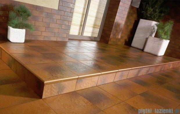Paradyż Semir brown klinkier płytka elewacyjna 6,6x24,5