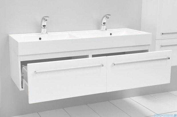 Antado Variete szafka z umywalką, wisząca 140 biały połysk FM-442/7 + FM-442/7 + UNAM-1404D