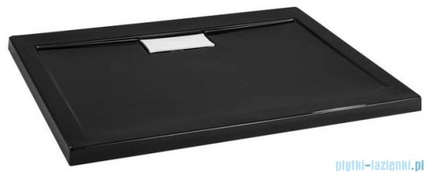 Polimat Comfort brodzik akrylowy posadzkowy 90x90 czarny połysk 00830