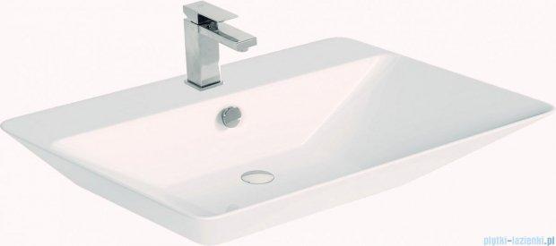 Antado Susanne szafka z umywalką Libra biała/blat brąz 95x46cm AS-140/95-WS+AS-B/3-140/95-70+UCS-TC-66