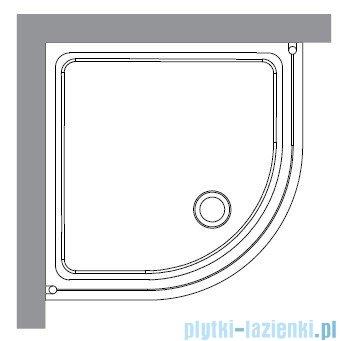 Kerasan Kabina półokrągła, szkło przejrzyste profile chrom 90x90 Retro 9151T0