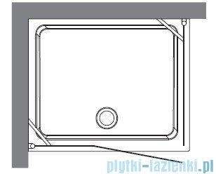 Kerasan Retro Kabina prostokątna prawa szkło dekoracyjne piaskowane profile chrom 80x96 9141P0