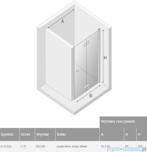 New Trendy New Soleo drzwi wnękowe bifold 80x195 cm przejrzyste Prawe D-0132A