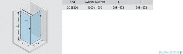 Riho Scandic S201 kabina prysznicowa 100x100x200 cm GC25200