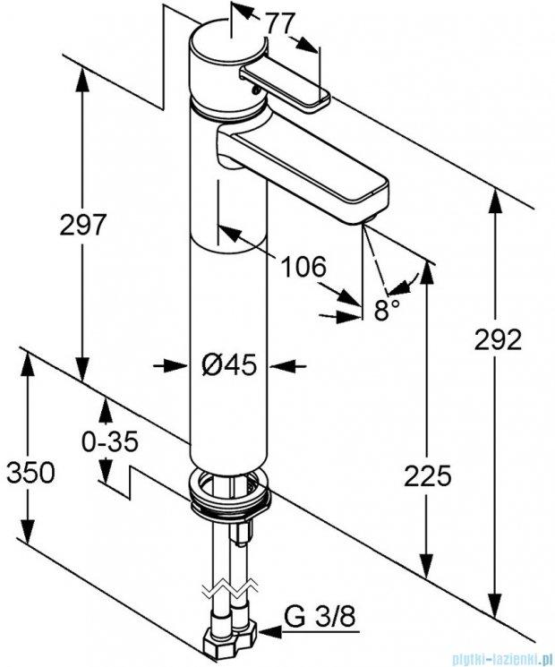 Kludi Zenta Jednouchwytowa bateria umywalkowa DN 10 chrom 382560575