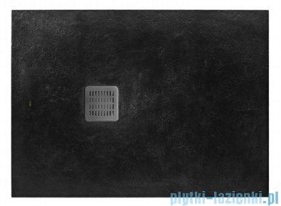 Roca Terran 140x80cm brodzik prostokątny konglomeratowy czarny AP0157832001400