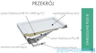 Schedpol Ajax brodzik prostokątny z klapką odpływu 120x90x4,5cm 3.4229