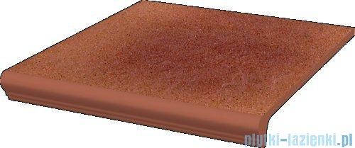 Paradyż Taurus rosa klinkier stopnica z kapinosem prosta 30x33