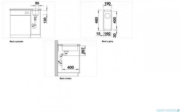 Blanco Subline 160-U zlewozmywak Silgranit PuraDur  kolor: alumetalik  bez k. aut.  513400