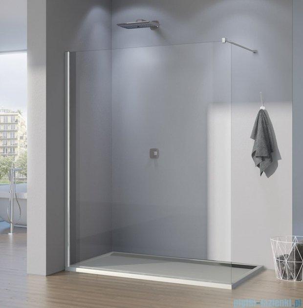 SanSwiss Pur PDT4P Ścianka wolnostojąca 90cm profil chrom szkło Durlux 200 PDT4P0901022