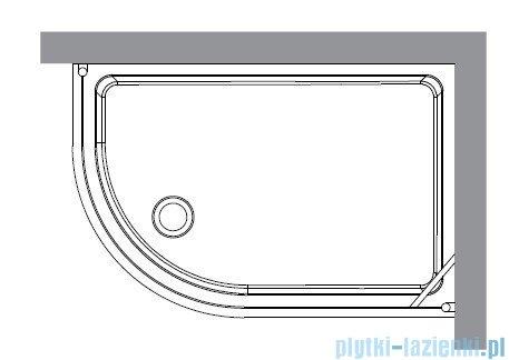 Kerasan Kabina półokrągła lewa szkło piaskowane profile chrom 80x120 Retro 9138S0