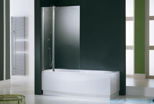 Novellini Parawan Aurora3 98x150cm profil chrom szkło satyna AURORAN3-4K