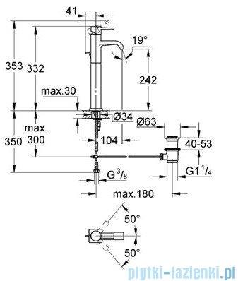 Grohe Allure bateria umywalkowa DN 15 z zestawem odpływowym chrom 32760000