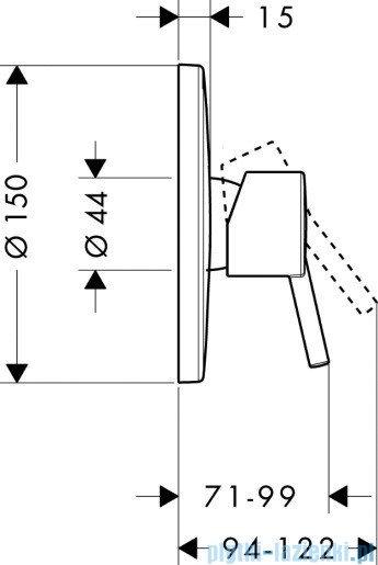 Hansgrohe Talis S Jednouchwytowa bateria prysznicowa podtynkowa 32675000