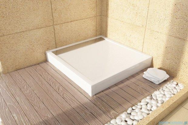 SanSwiss Ila WIQ Brodzik kwadratowy 80x80cm kolor biały/czarny WIQ0800604