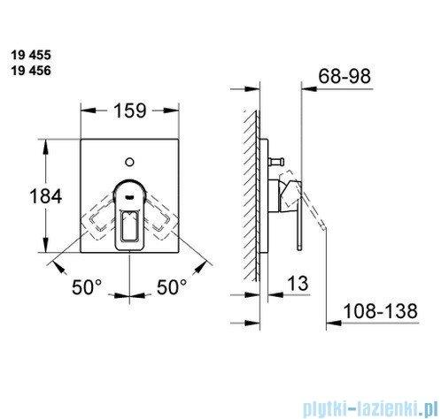 Grohe Quadra Jednouchwytowa bateria prysznicowa 19455000