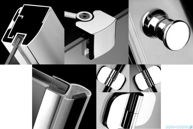 Radaway Torrenta Kdj kabina kwadratowa 80x80 prawa szkło grafitowe + Brodzik Delos C + syfon 32212-01-05NR
