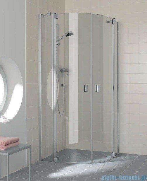 Kermi Raya Kabina ćwierćkolista, drzwi wahadłowe, szkło przezroczyste, profile srebrne 90x90x200 RAP5009020VAK