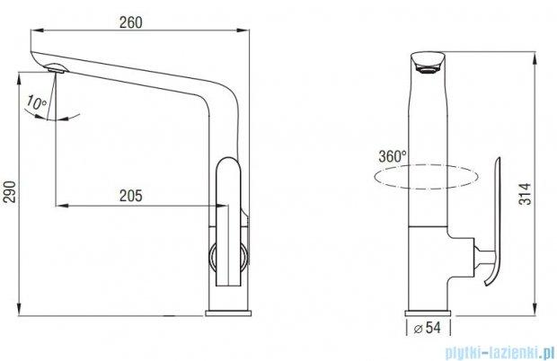 Art Platino Emira bateria kuchenna chrom 5901730613711