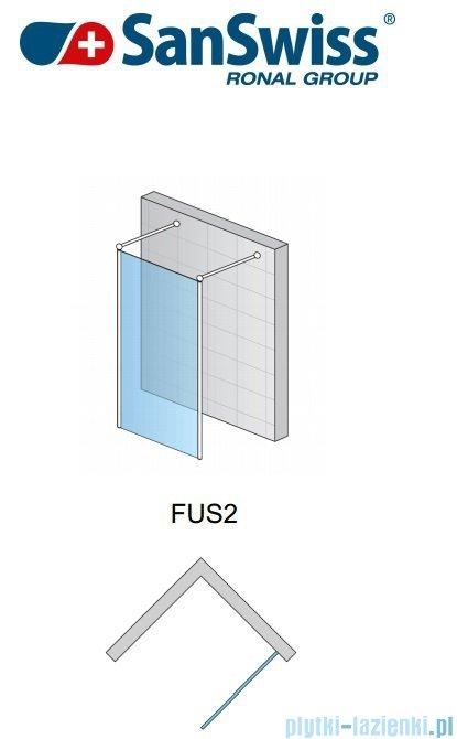 SanSwiss Fun Fus2 Ścianka wolnstojąca 120cm profil połysk FUS212005007