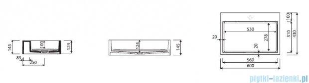 Marmorin umywalka nablatowa Modico z otworem 60cm biała 350060020011