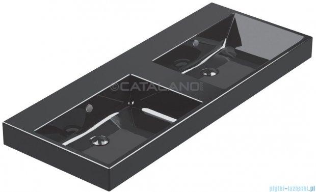 Catalano Zero Nero 125 umywalka podwójna 125x50 czarna 1125ZENE