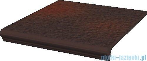 Paradyż Cloud brown duro klinkier stopnica prosta z kapinosem 30x33
