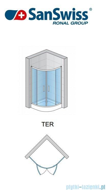 SanSwiss Top-Line Ter Kabina półokrągła 100cm profil biały TER551000407