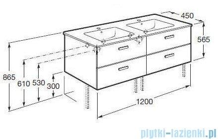 Roca Victoria Basic Zestaw łazienkowy Unik szafka z umywalką 120cm wenge A855850201