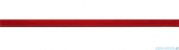 Tubądzin glass red 4 listwa ścienna 2,5x44,8