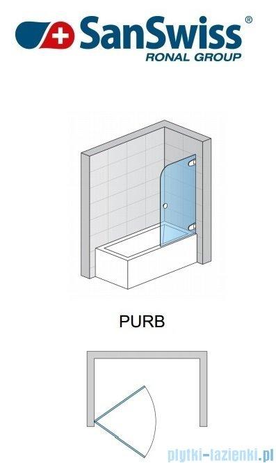 SanSwiss Pur PURB Parawan nawannowy 1-częściowy 70cm profil chrom szkło Efekt lustrzany Prawy PURBD07001053