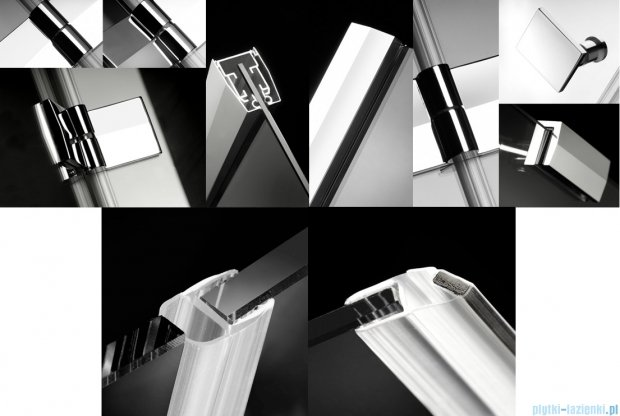Radaway Kabina prysznicowa Almatea Kdj 100x100 lewa szkło grafitowe 32150-01-05NL