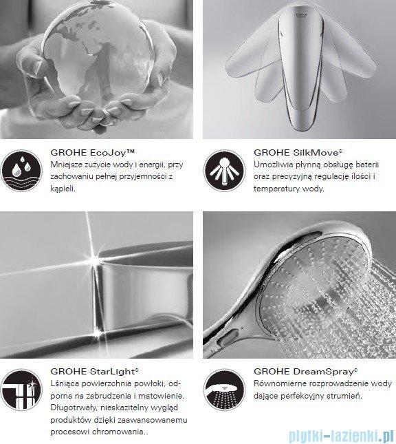 Grohe Rainshower® Grandera™ 210 prysznic ręczny jednostrumieniowy chrom/złoty 27974IG0
