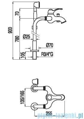 Tres Monoclasic 1900 Zestaw wannowy z przyłączem podłogowym 1.42.194.02