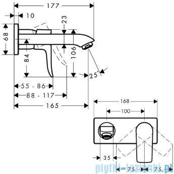 Hansgrohe Metris Jednouchwytowa bateria umywalkowa DN15 bez kompletu odpływowego 31085000