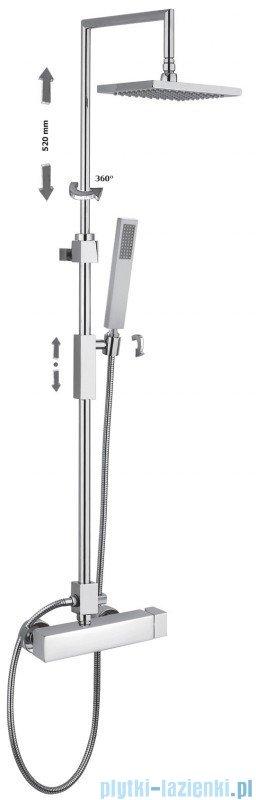 Paffoni SYNCRO PLUS Kolumna prysznicowa z baterią termostatyczną chrom ZCOL620CR
