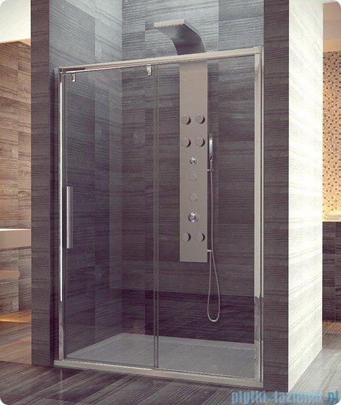 SanSwiss Pur Light S PLS2 Drzwi rozsuwane 170cm profil biały szkło przejrzyste Prawe PLS2D1700407