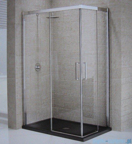 Novellini ElysiumŚcianka prysznicowa KUADRA A 69 lewa szkło przejrzyste profil chrom KUADA69LS-1K