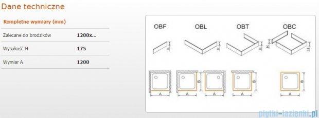 Sanplast Obudowa frontowa do brodzika OBF 120x17,5 cm 625-403-0350-01-000