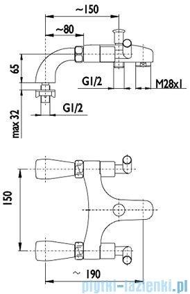 KFA HARMONIC Bateria wannowa stojąca chrom 345-020-00
