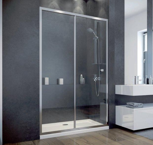 Besco Duo Slide drzwi prysznicowe przesuwne 100x195 przejrzyste DDS-100