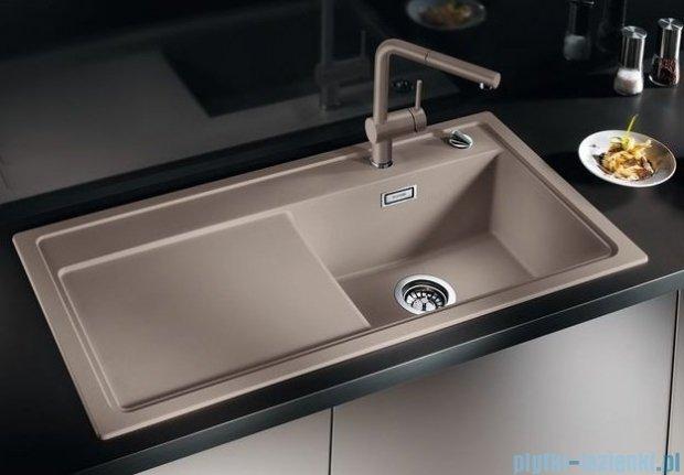 Blanco Zenar XL 6 S  Zlewozmywak Silgranit PuraDur komora prawa kolor: jaśmin z kor. aut. i szklaną deską do krojenia 519276