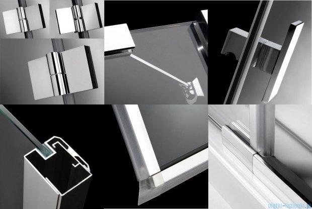 Radaway Essenza KDJ kabina 80x80 prawa szkło przejrzyste + brodzik Delos C + syfon 32812-01-01NR