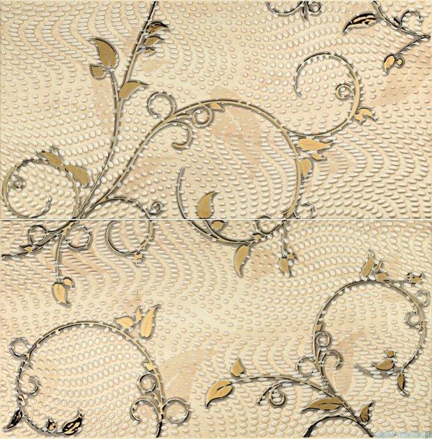 Tubądzin Traviata ornament dekor ścienny 2-elementowy 60,8x61,8