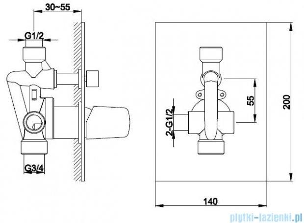 Kohlman Dexame zestaw prysznicowy chrom QW210LQ35